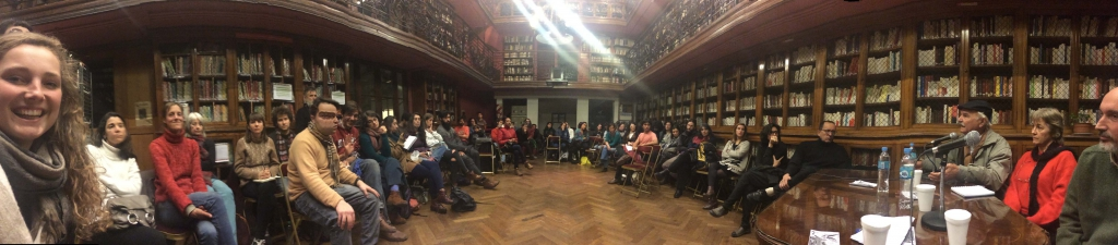 "The premiere screening of ""Voices of Transition"" in the Argentinian capital happened in the crammed library of the ""Alliance Française""."